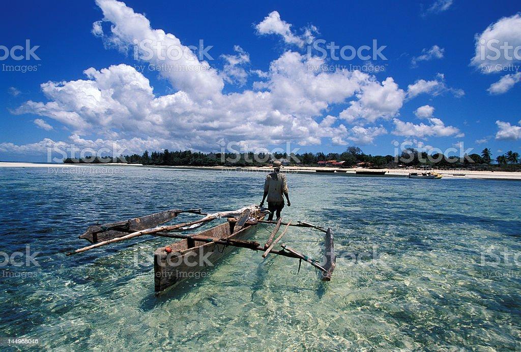 Zanzibar fisherman stock photo