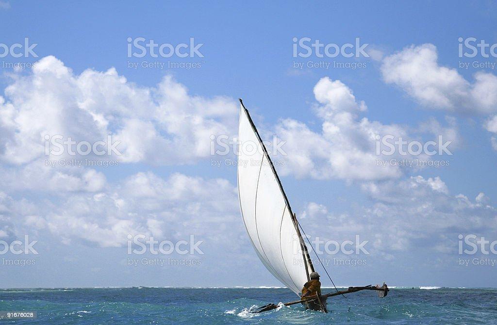 Zanzibar Sailboat royalty-free stock photo