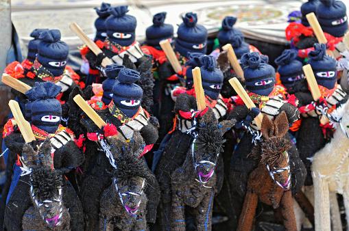 Zapatista Marcos dolls for sale in San Cristobal de las Casas, Chiapas, Mexico.