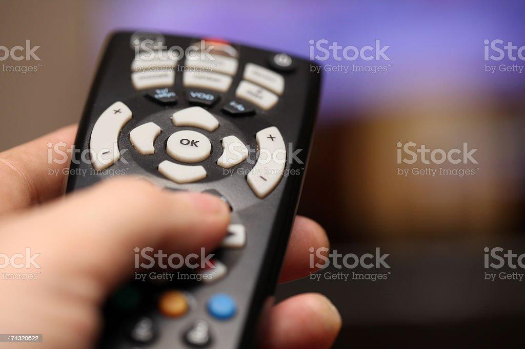 Zapping Tv stock photo