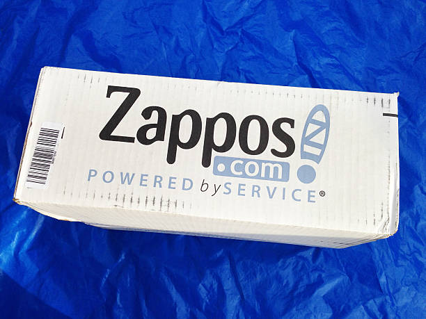 Zappos.com merchandise mailing box stock photo