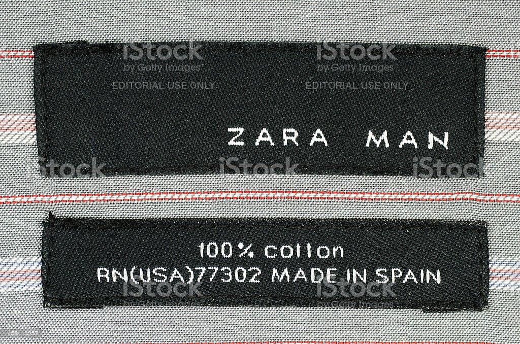 Zara Logo On Shirt Label Stock Photo More Pictures Of Beauty Istock