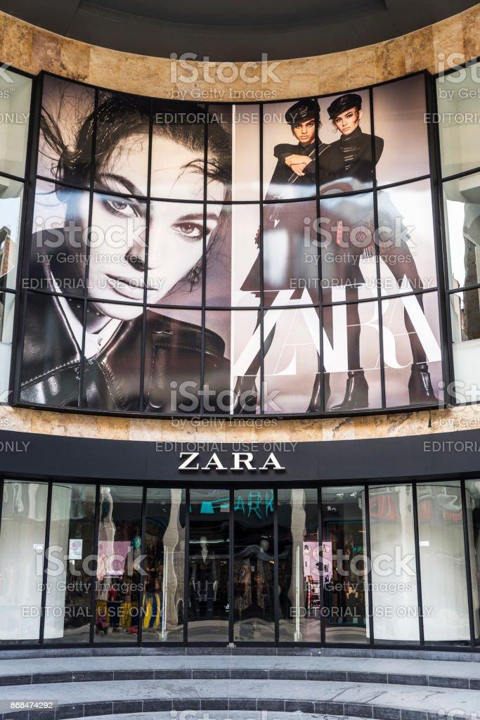 Zara shop in Brussels, Belgium Brussels: Zara shop in the center of Brussels, Belgium Advertisement Stock Photo