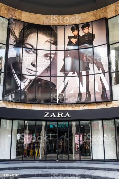 Zara Shop In Brussels Belgium Stock Photo - Download Image Now