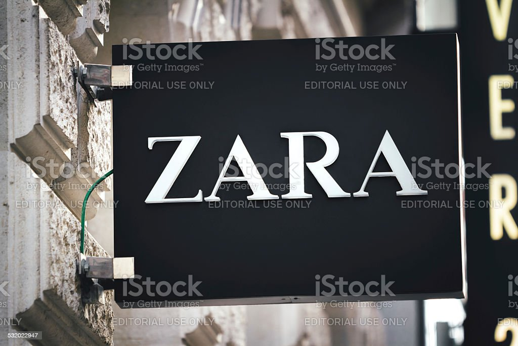 Zara Sign In Vienna stock photo