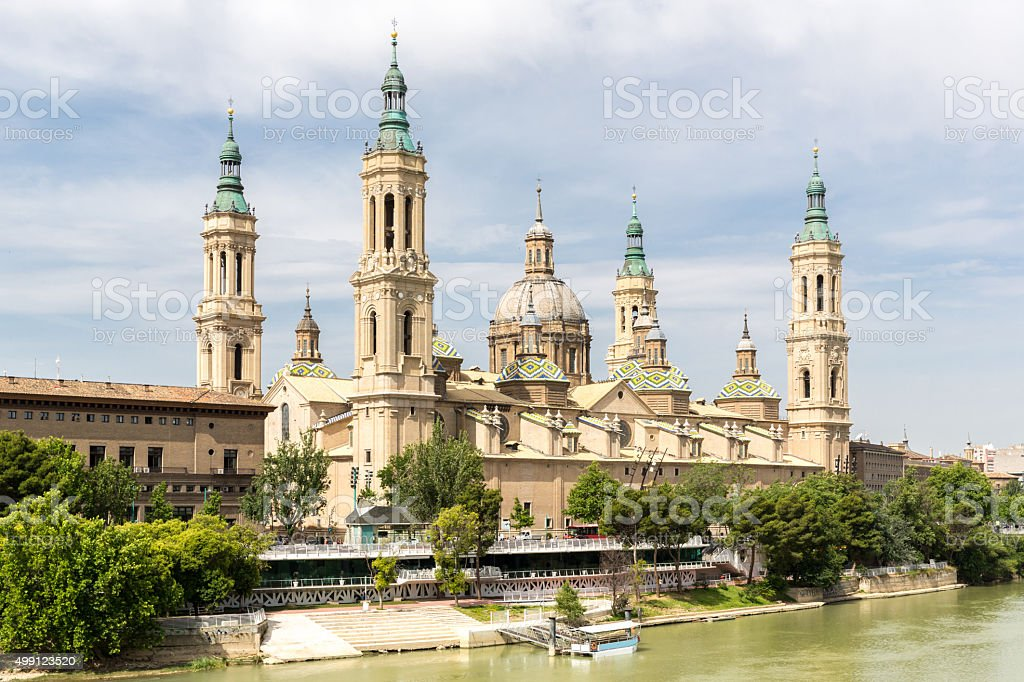 Zaragoza Basilica Cathedral Spain stock photo