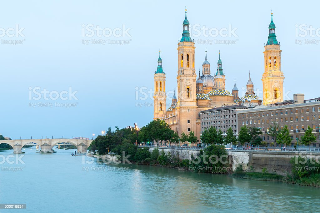 Zaragoza Basilica Spain stock photo