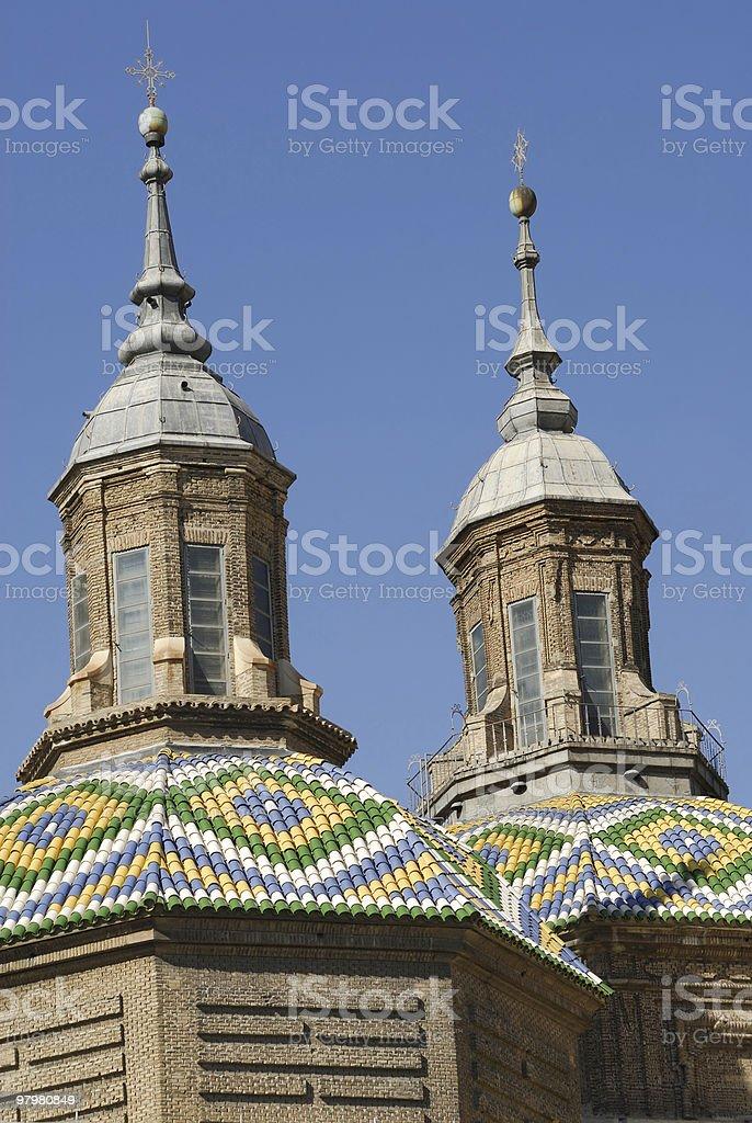 Zaragoza (Aragon, Spain) - Plaza del Pilar, domes royalty-free stock photo