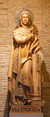 Zaragoza - The statue of Santa Engracia in the chruch st.  Basílica de Santa Engracia.