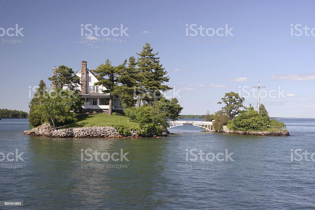 Zavicon Island, 1000 Islands, Ontario, Canada royalty-free stock photo
