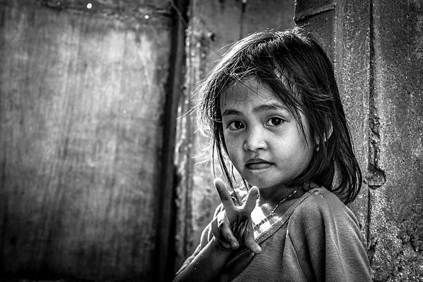 zeandra b&w - philippines girl stock photos and pictures