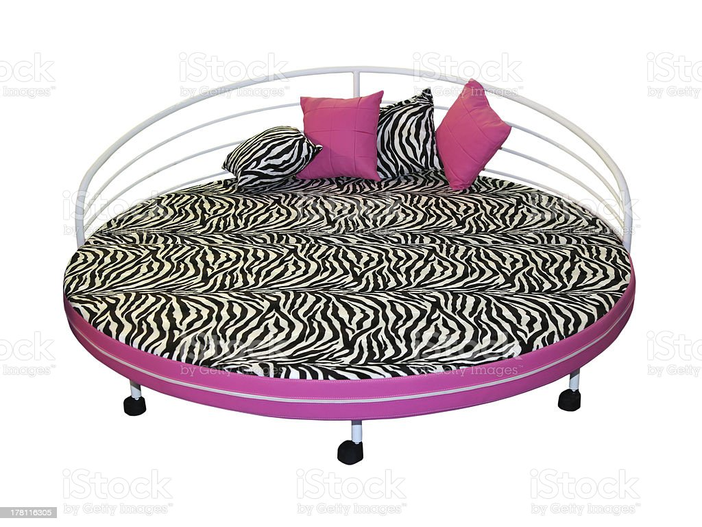 Zebra bed stock photo