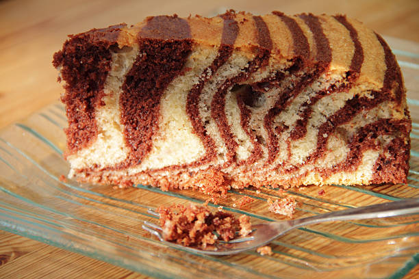 zebra cake stock photo