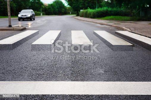 istock Zebra crossing 3d illusion 866994476