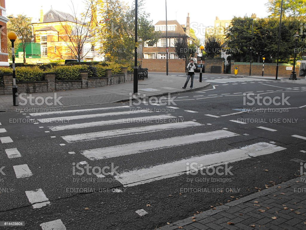 Zebra crossing at Abbey Road - foto stock
