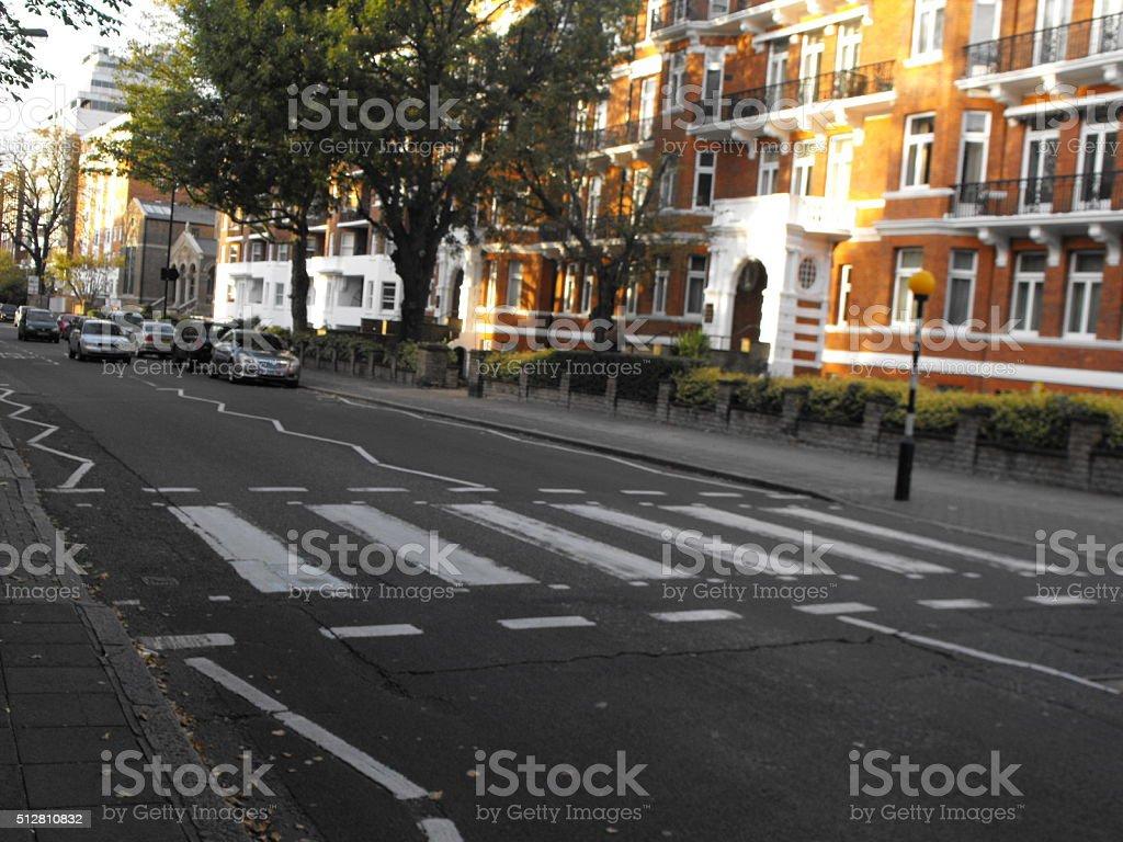 Zebrastreifen in der Abtei Road in London – Foto