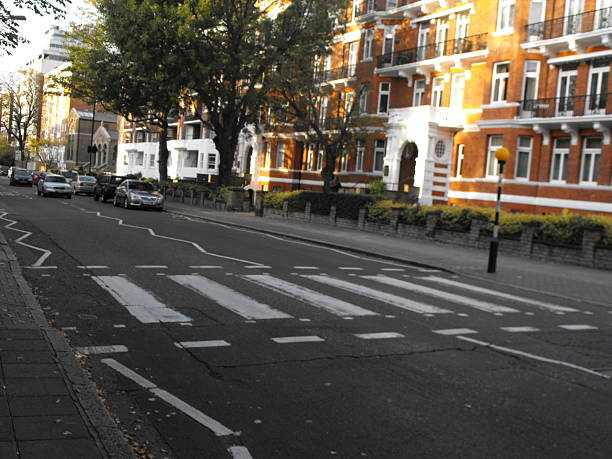 Zebra Crossing at the Abbey Road, London stock photo