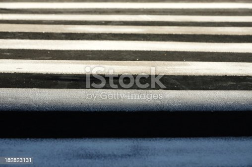 Close up of a zebra crossing. Copy space.