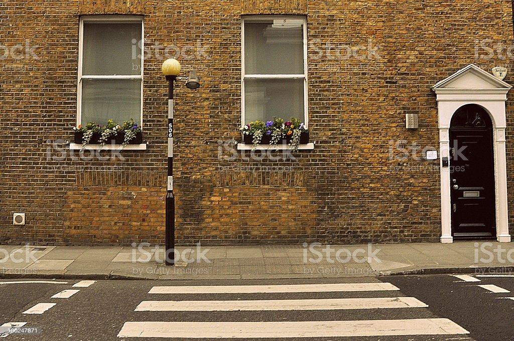 Zebra Crossing in London Street royalty-free stock photo