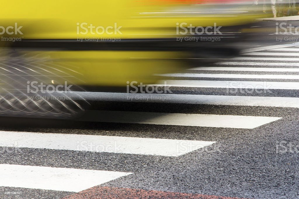 zebra crossing in tokyo with motion royalty-free stock photo