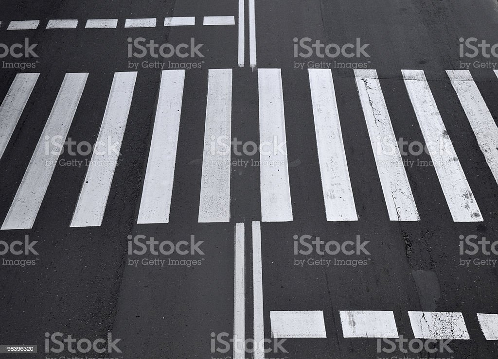 Zebra Crossing royalty-free stock photo