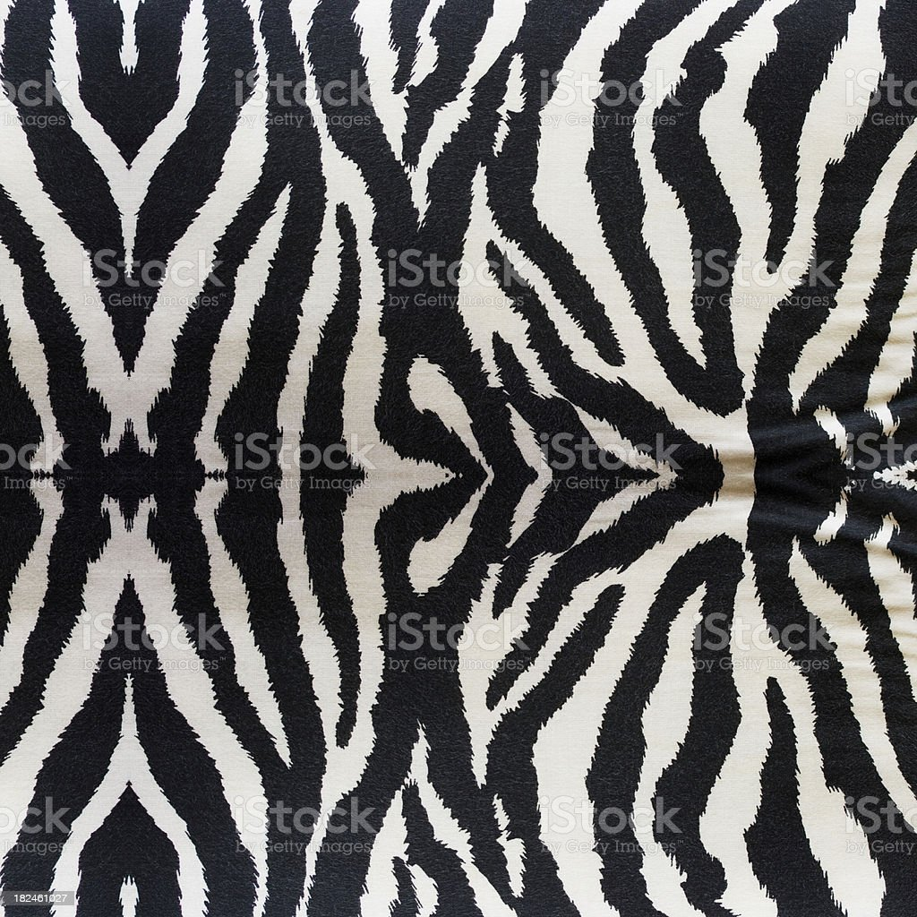 Zebra Fabrics Textile royalty-free stock photo