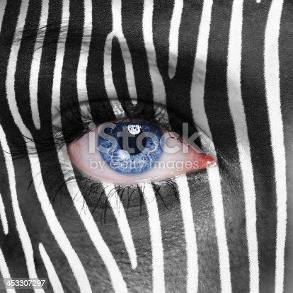 istock Zebra face 453307297
