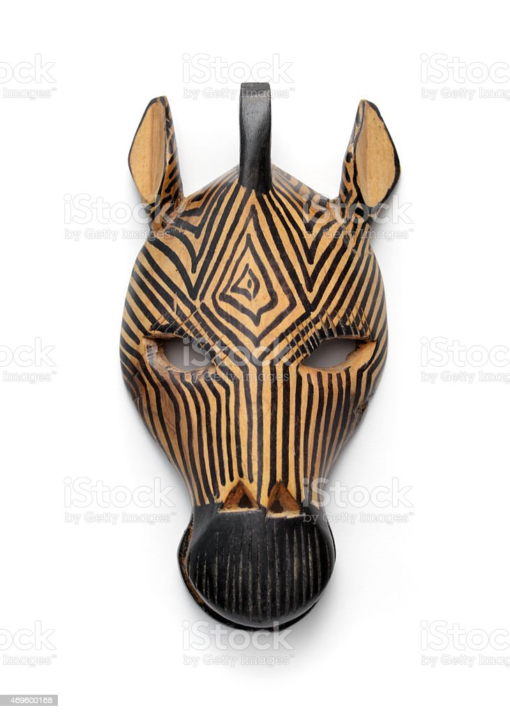 Zebra Mask stock photo