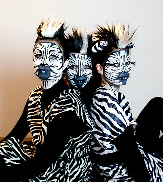 Royalty Free Fasching Zebra Stage Costume Make Up Pictures Images