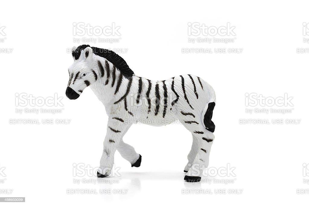 Zebra toy stock photo