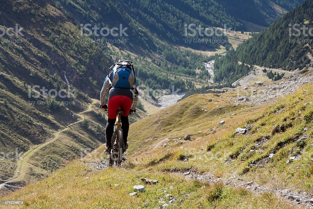 Zebru Valley downhill, South Tyrol royalty-free stock photo
