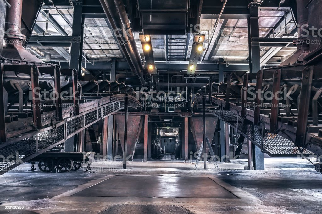 Zeche Zollverein coke oven plant indoor stock photo