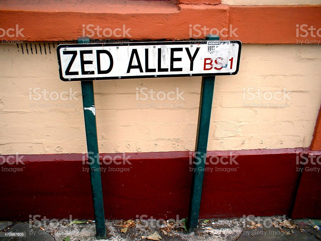 zed alley royalty-free stock photo