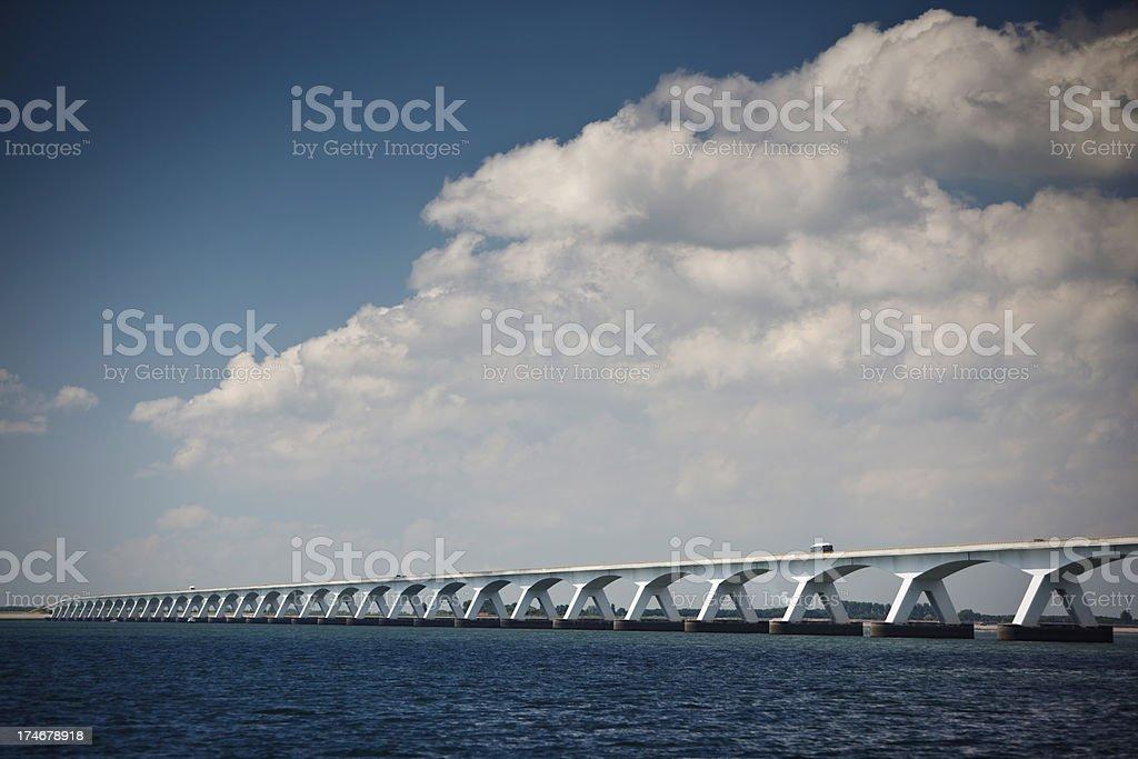 Zeeland Bridge stock photo