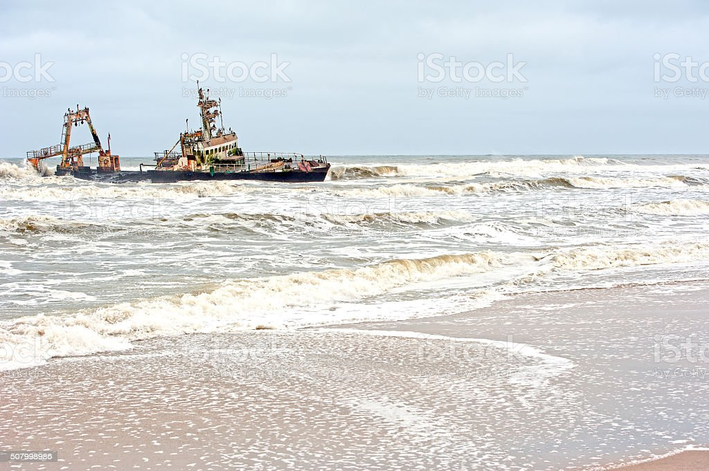 Zeila's end, Skeleton Coast, Namibia, Africa stock photo