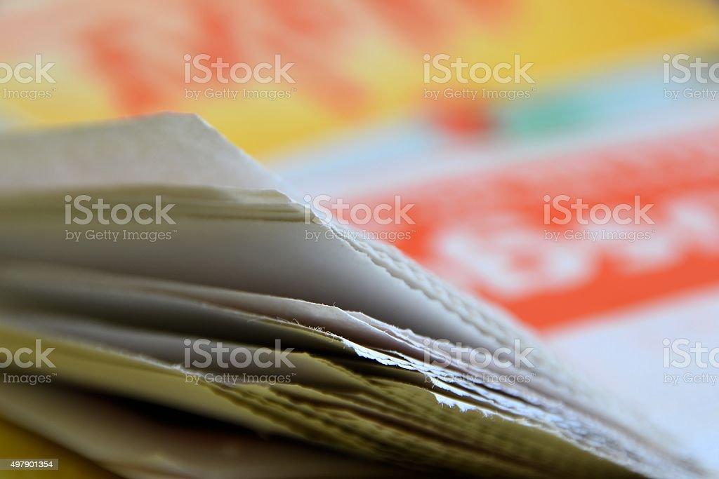 Zeitung stock photo