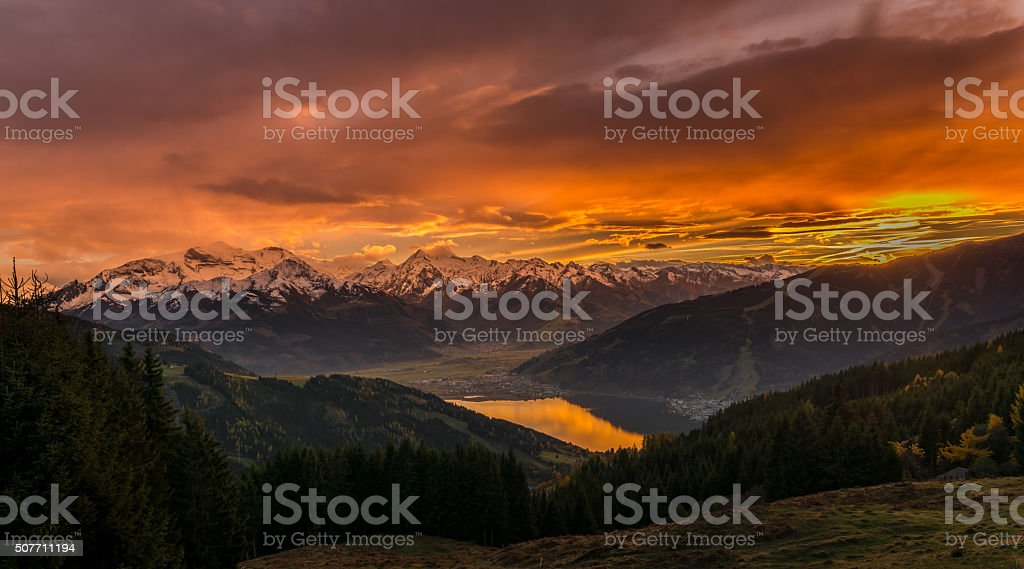 Zell am See – Austria, Kaprun and the alps stock photo