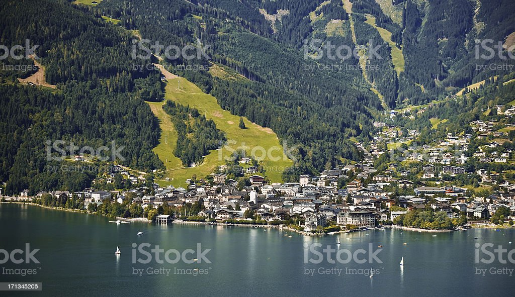 Zell am See - Austria stock photo