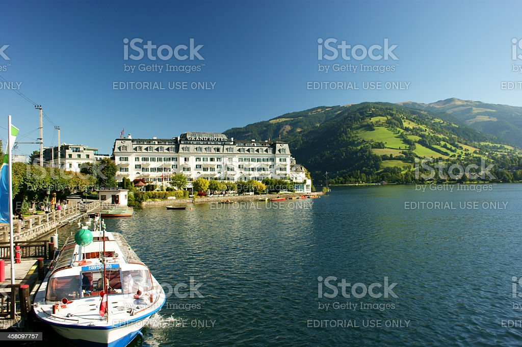 Zell am See Grand Hotel stock photo