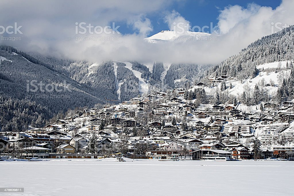 Zell Am See In Winter stock photo
