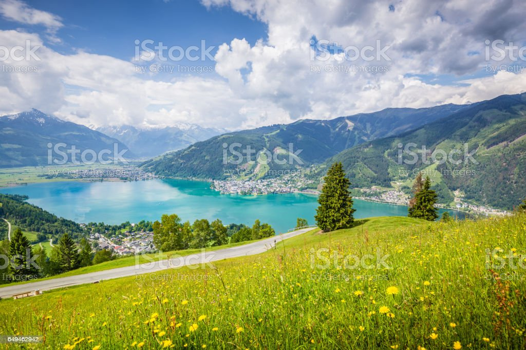 Zell am See, Salzburger Land, Austria stock photo