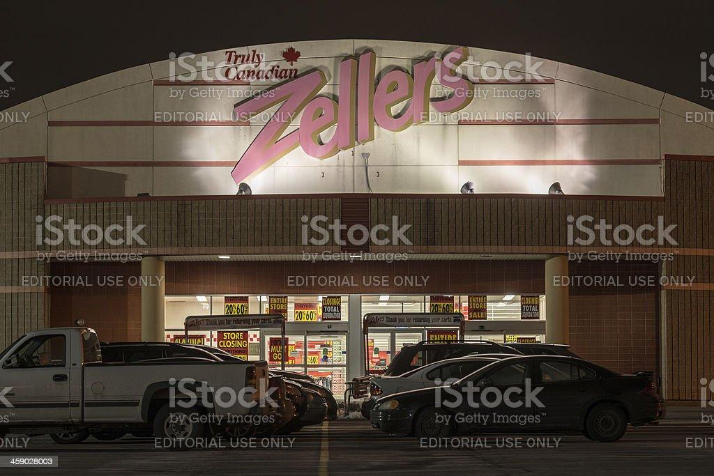 Zellers Store stock photo