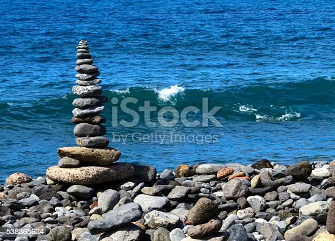 istock Zen balance stones.Stack of sea pebbles. 538365624