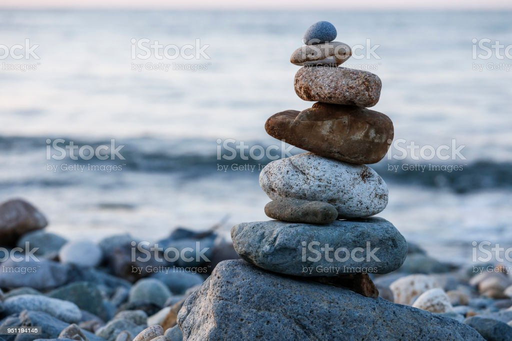 Zen Balancing Pebbles, Harmony and Balance stock photo