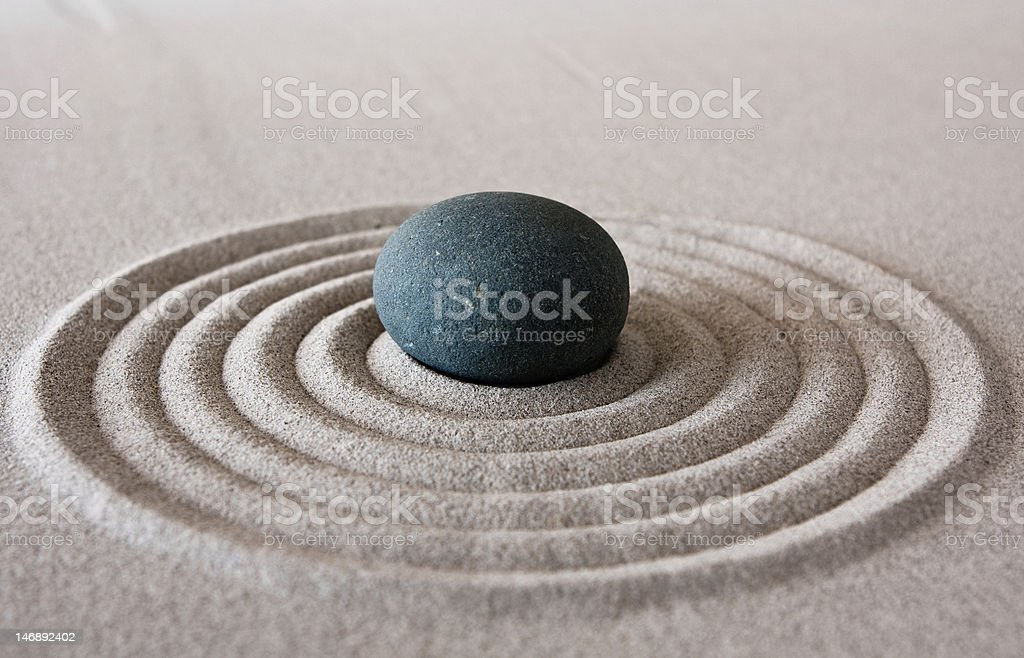 zen circle stock photo