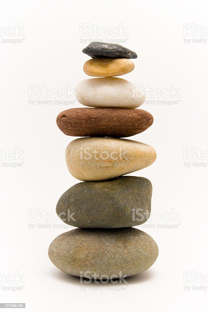 Zen column stock photo