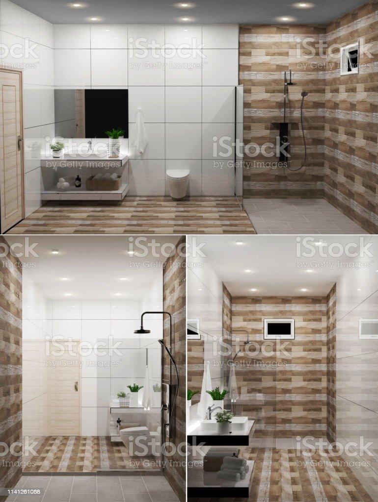 Zen Design Bad Holzwand Und Bodenjapanischer Stil ...