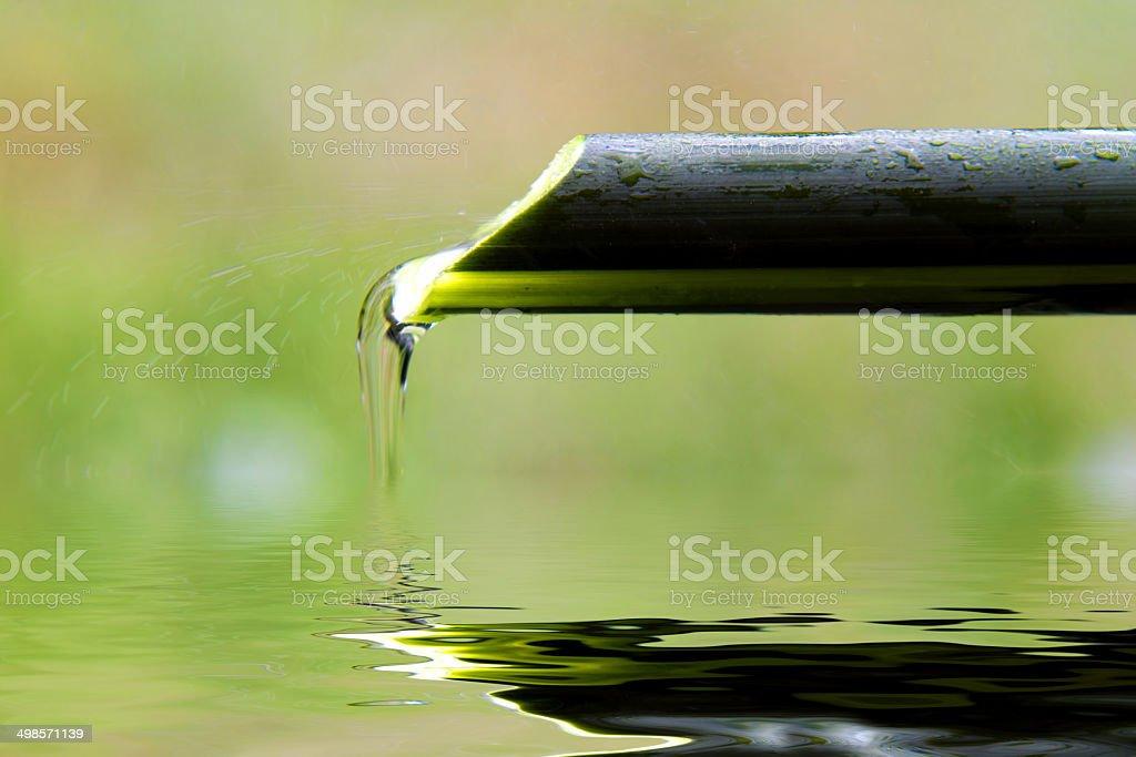 zen fountain stock photo