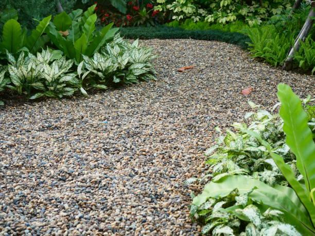 Zen garden at thailand stock photo
