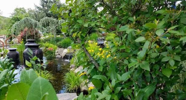Zen Garden in the Summertime stock photo